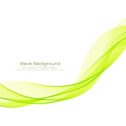 Abstrakter eleganter grüner Wellenhintergrund