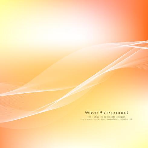 Design de fundo brilhante onda abstrata vetor