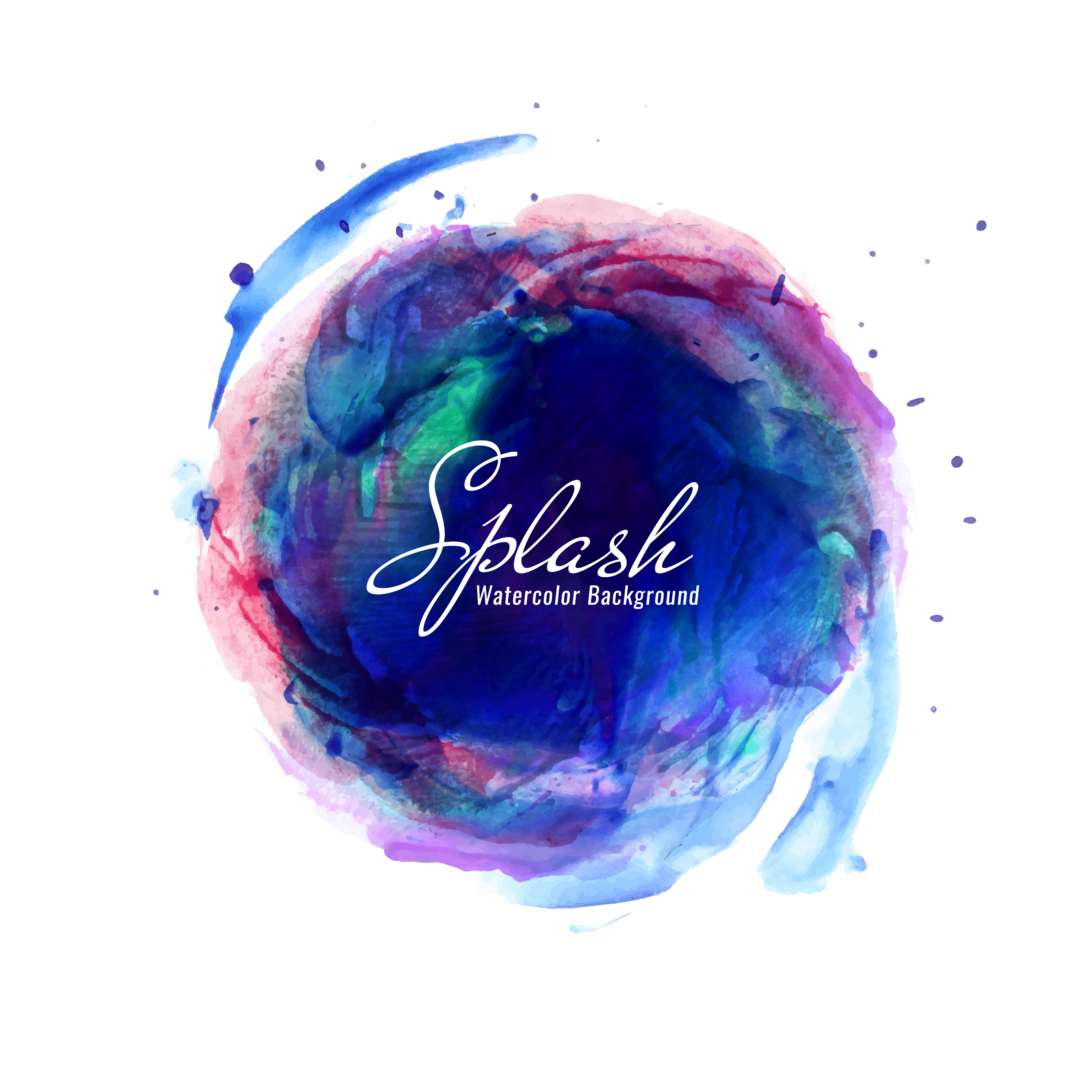 Abstract colorful watercolor splash background - Download ...