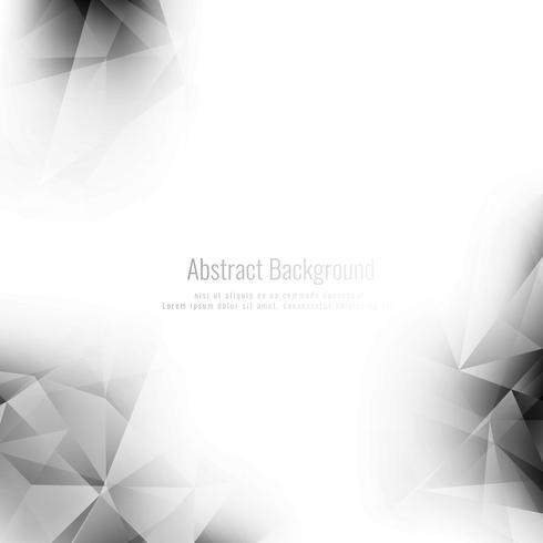 Abstract elegant grey color geometric background vector