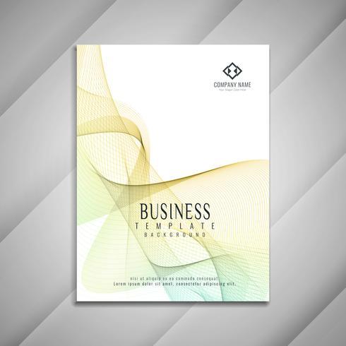Elegantes Schablonendesign der abstrakten gewellten Geschäftsbroschüre