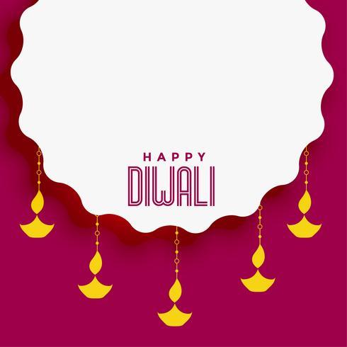fundo festival de diwali com espaço de texto