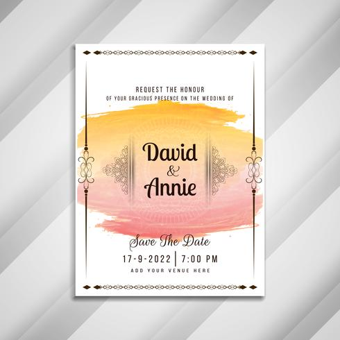 Abstrakt vacker bröllopinbjudningskortdesign