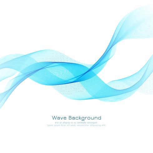 Priorità bassa di disegno astratto elegante onda blu