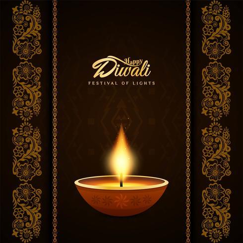 Abstrakter religiöser glücklicher Diwali-dekorativer Hintergrund