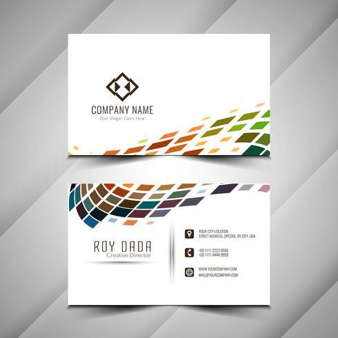 Modelo de cartão colorido abstrato