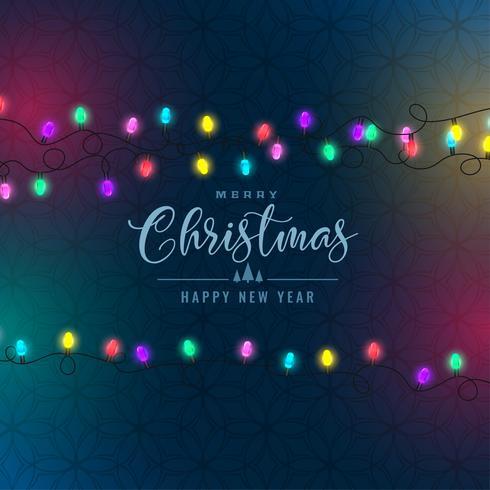 stilvolle Weihnachten Festival bunten Lichter Hintergrund