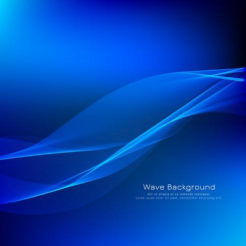 Abstracte blauwe golfachtergrond