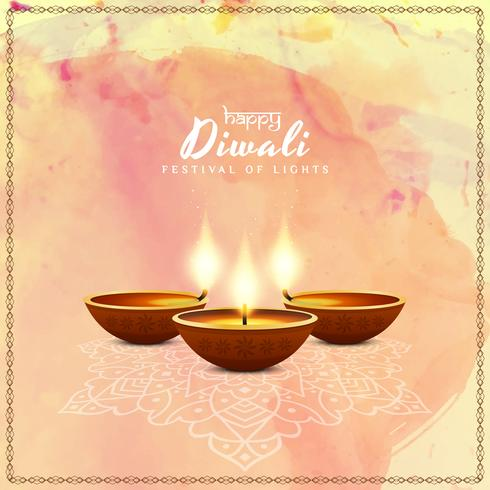 Abstrakter glücklicher Diwali-Vektorhintergrund