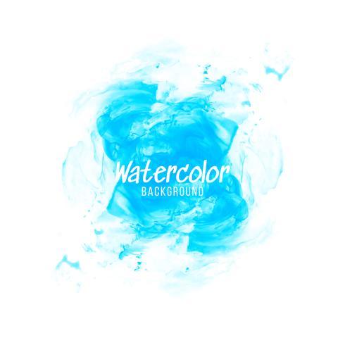 Abstrakter blauer Aquarelldesignhintergrund vektor