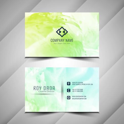 Acuarela abstracta diseño de tarjeta de visita