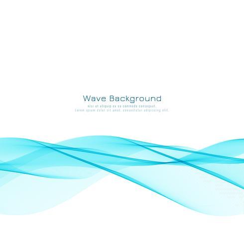 Abstrakter stilvoller blauer Wellenentwurfshintergrund