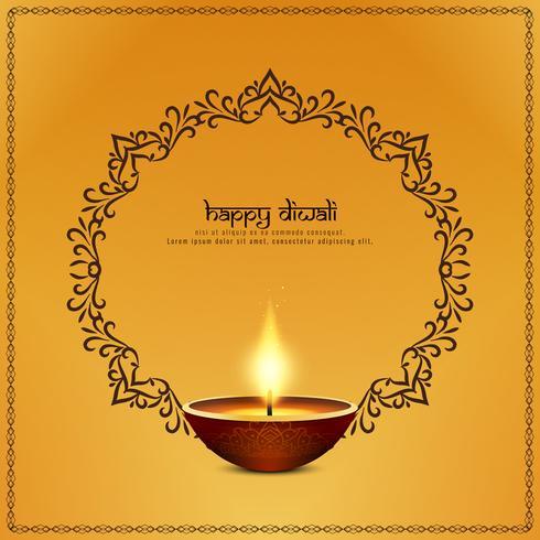 Fondo artístico abstracto feliz Diwali vector
