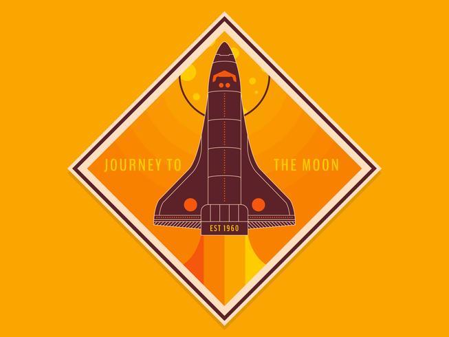 Einzigartige Mond Reise Poster Vektoren