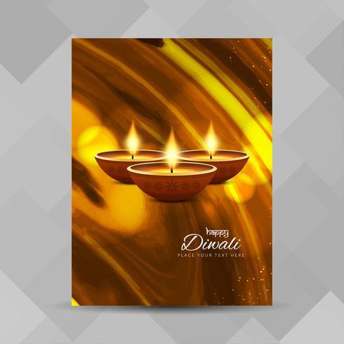 Modèle de conception de brochure abstrait joyeux Diwali