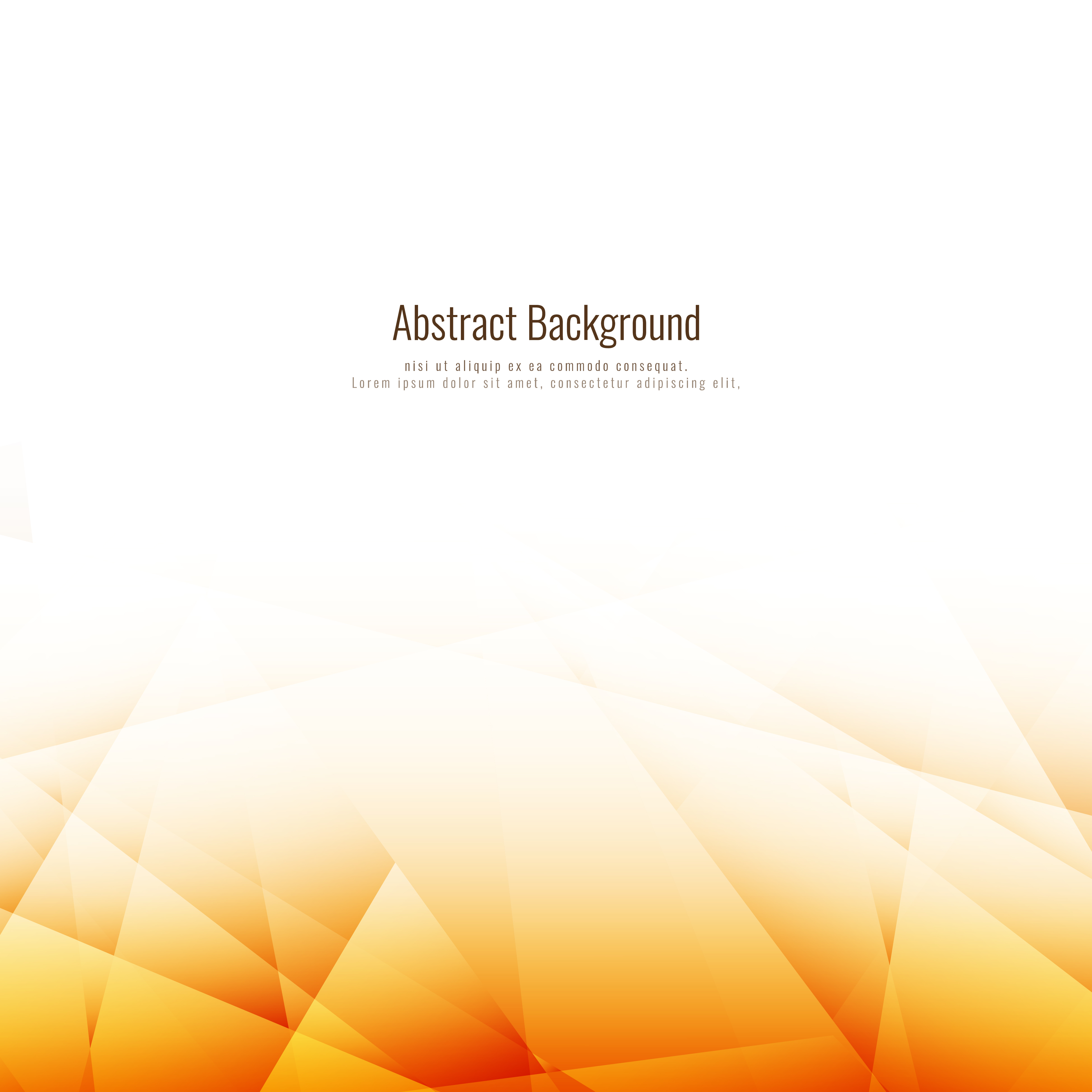 Abstract Bright Brown Polygonal Background