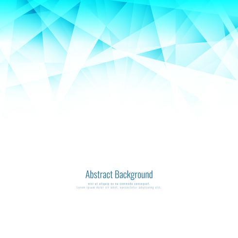 Fondo poligonal geométrico azul brillante abstracto