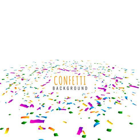 Abstract colorful confetti decorative background