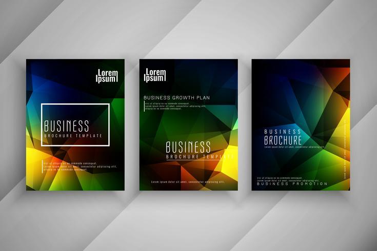 Abstracte zakelijke brochure sjabloon set