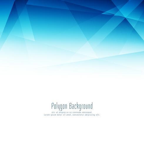 Abstrakter stilvoller blauer Polygondesignhintergrund