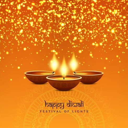 Abstrakter stilvoller glücklicher Diwali-Festivalhintergrund