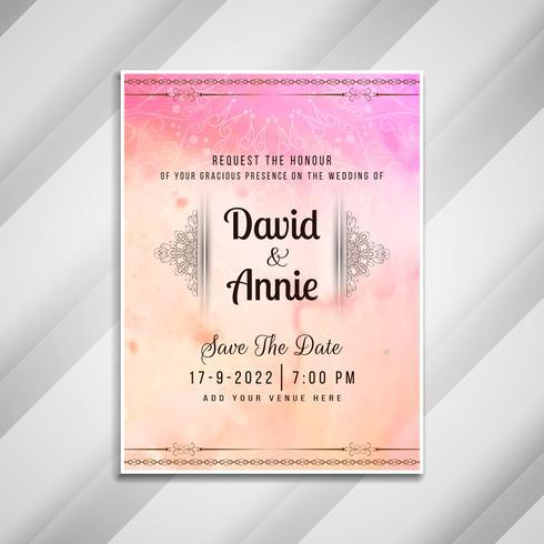 Abstrakt bröllopsinbjudan stilfull kortdesign