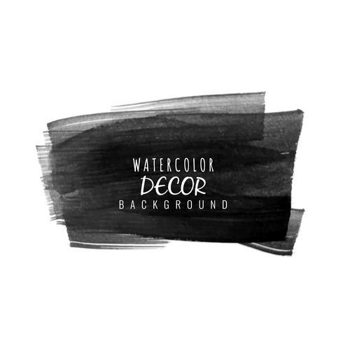 Abstrakt svart vattenfärg fläck design bakgrund