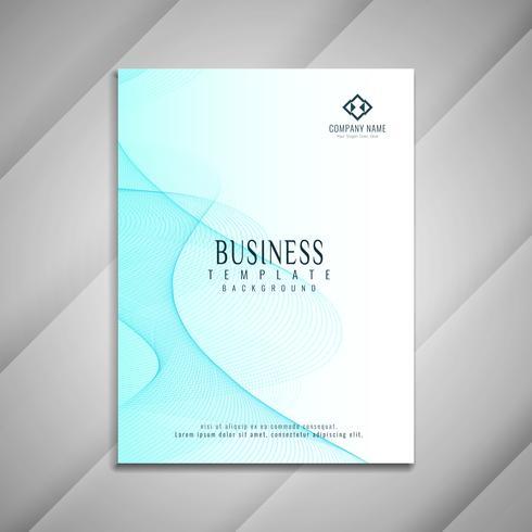 Abstracte blauwe golvende bedrijfsbrochure