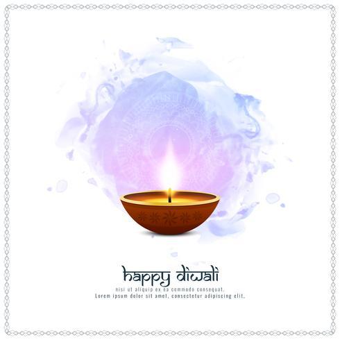 Abstrakter glücklicher Diwali künstlerischer Hintergrund