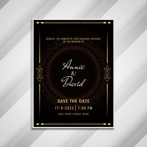 Disegno di carta elegante invito matrimonio astratto