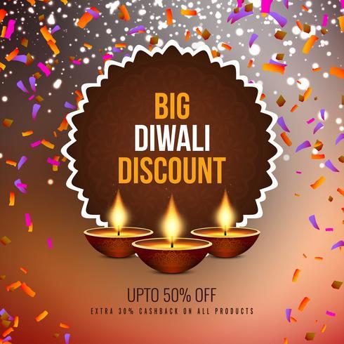 Abstrakter glücklicher Diwali-Verkaufsangebothintergrund