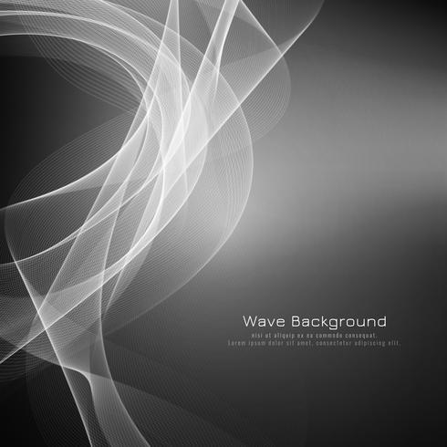 Eleganter Hintergrund der abstrakten grauen Welle vektor