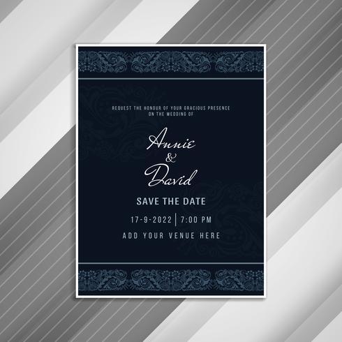 Abstraktes schönes Hochzeit Einladungs-Karten-Design