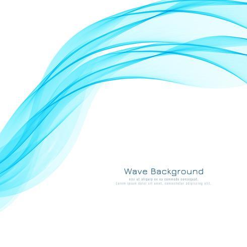 Abstrakter stilvoller blauer Wellenhintergrund vektor