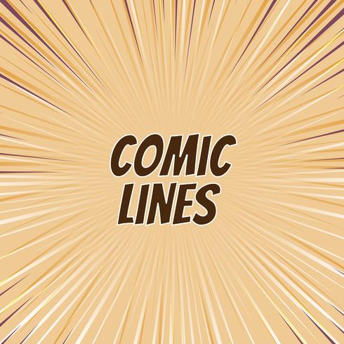 Abstract comic lines background