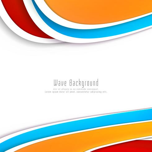 Abstracte stijlvolle kleurrijke golf achtergrond
