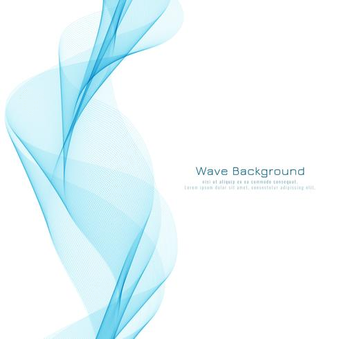 Abstract blauw golvend stijlvol ontwerp als achtergrond