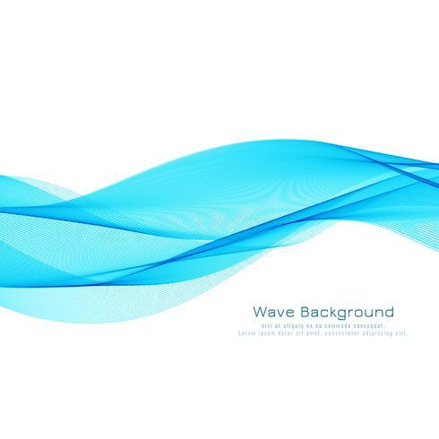 Eleganter Hintergrund des abstrakten blauen Wellenentwurfs