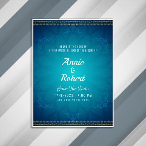 Design de cartão de convite de casamento elegante abstrata