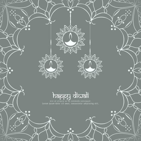 Abstracte Gelukkige Diwali-achtergrond;