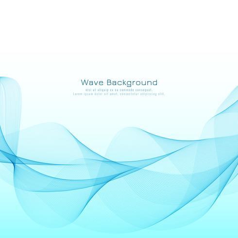 Abstraktes blaues wellenförmiges modernes Hintergrunddesign