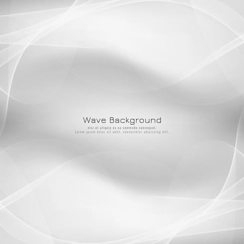 Abstrakter heller grauer Wellenvektorhintergrund vektor