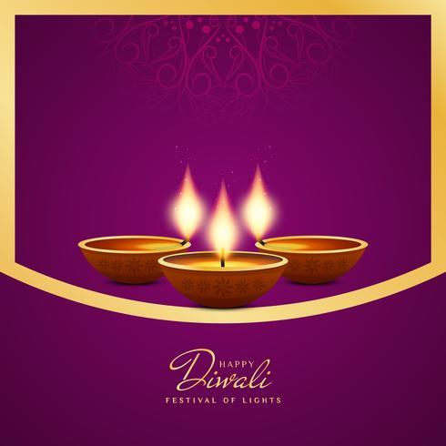 Abstracte artistieke Gelukkige Diwali decoratieve achtergrond