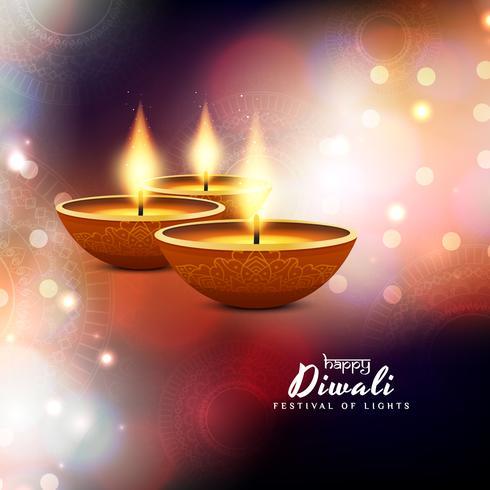 Abstracte elegante Gelukkige Diwali-achtergrond vector