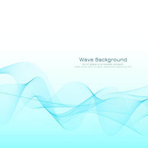 Abstracte stijlvolle blauwe golf ontwerp achtergrond