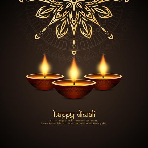 Abstracte Gelukkige Diwali-artistieke achtergrond