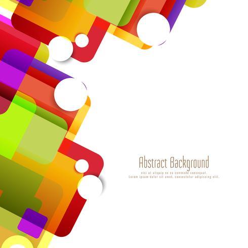 Abstrakter bunter geometrischer Formhintergrund vektor