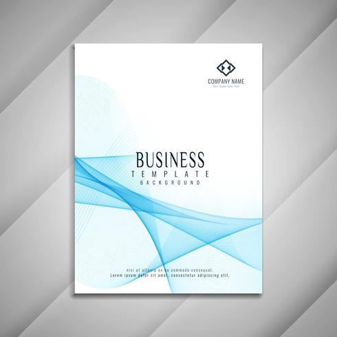 Diseño de plantilla de folleto de negocio ondulado abstracto vector