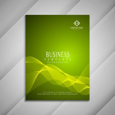 Design de modelo de folheto abstrato ondulado de negócios