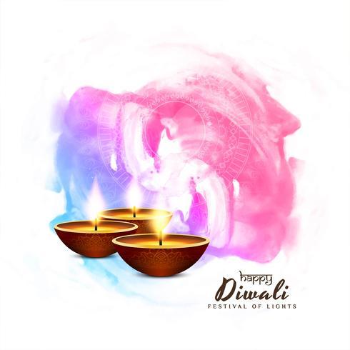 Fondo decorativo abstracto feliz Diwali vector